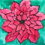 art class poinsettia flower